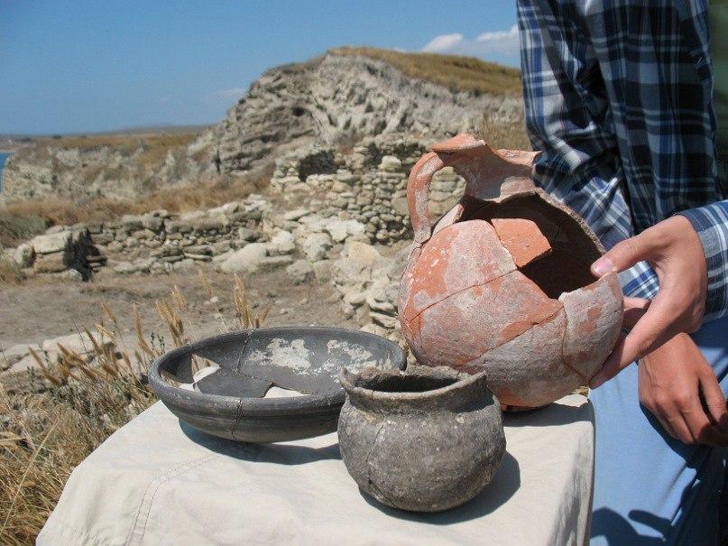 Античная керамика найденная на городище Китей