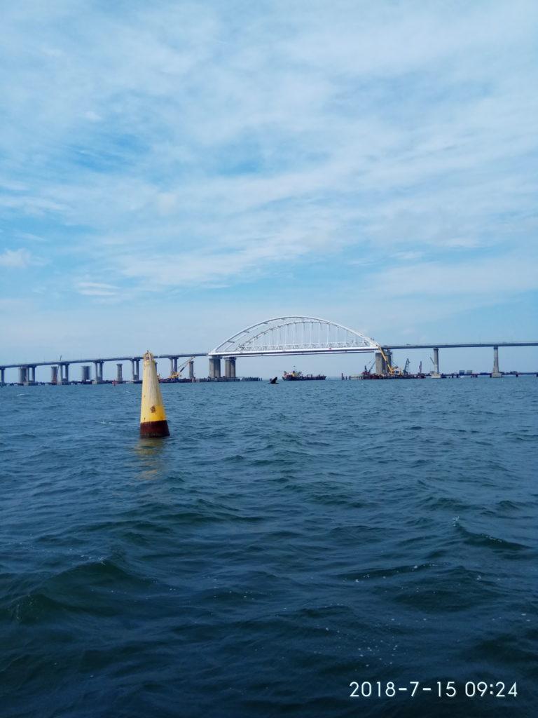 Рисунок 29 Впервые волонтеры пройдут под Крымским мостом